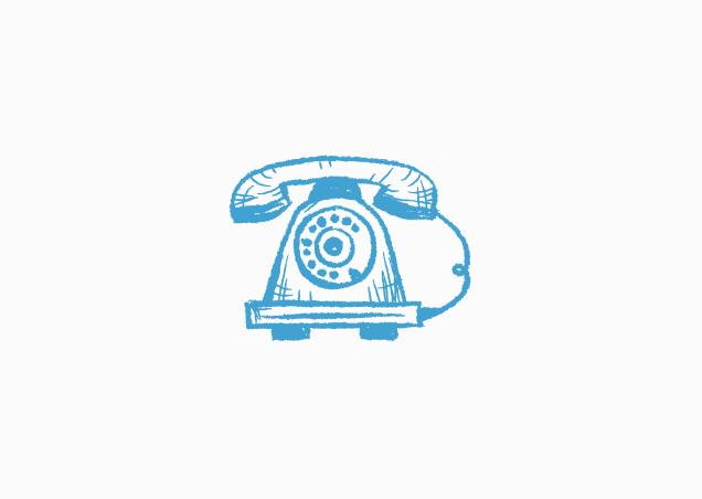 Zu Besuch per Telefon